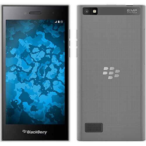 PhoneNatic Case für BlackBerry Leap Hülle Silikon Clear, transparent + 2 Schutzfolien