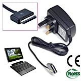 volans brand new replacements 15V UK Mains Charger 40 pin Adapter for for ASUS Eee Pad Transformer A1 B1 TF101 TF101G TF201 TF300 TF300T TF300TG TF700 T700T SL101 Prime Android Tablet