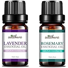 Satthwa Lavender Essential Oil & Rosemary Essential Oil Combo (30 ml)