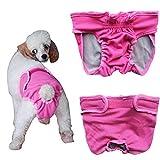 Bild: Tiaobug Haustier weibliche Hund Sanitär Windel Hygieneunterhose Physiologische Unterwäche S Brust1101802846cm Rosa