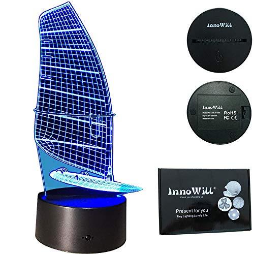 InnoWill Surfsegel Geschenke LED Lampe 7Colors USB und Batteriebetriebene