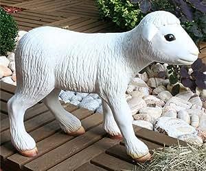 """Gartenfigur Schaf Lamm """"Polly"""" - 65cm lang - NEU OVP"""