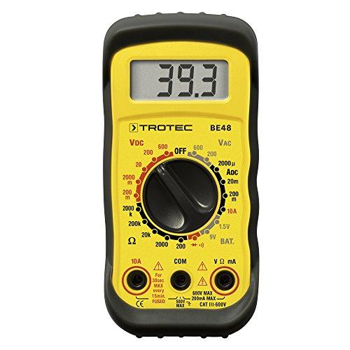 Preisvergleich Produktbild Digital Multimeter Trotec BE48 zum Messen von Spannung, Strom, Widerstand, Kontinuität, Dioden