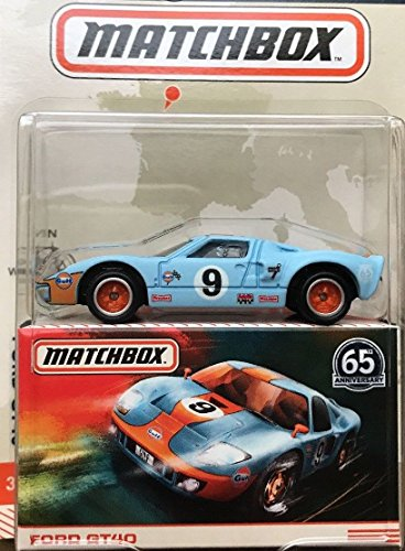 Ford GT 1965 Vintage Gulf Racing - Matchbox Globe Travellers Anniversary 1:64
