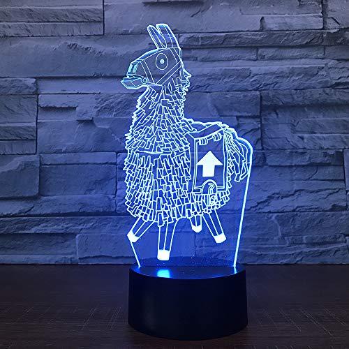 Xiujie Alpaca Lama 3D Led Desk Lamp Modeling Night Light Usb Charge Baby Mood Pulsante A Sfioramento Kids Bedroom Illuminazione Per La Decorazione Domestica Regalo