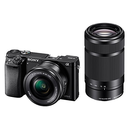 Sony Alpha A6000Y 24.3MP Digital SLR Camera (Black) with 16-50 & 55-210mm Lens (ILCE-6000Y)
