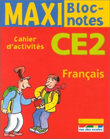 Maxi Bloc-notes : Français, CE2 (Cahier d'activités)