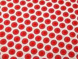Imprimé à pois Polyester Tissu de crêpe Corail–au mètre