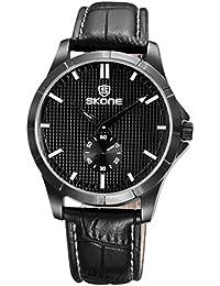Skone Big Face Full Crystal rhinestonefashion relojes para mujer piel reloj de cuarzo Ladies Casual vestido reloj de pulsera