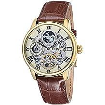 Thomas Earnshaw ES-8006-06 - Reloj para hombre con esfera analógica de color crudo y correa de cuero marrón