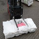 Big Bag Asbest-Plattenbag 320 x 125 x 30 cm, Schürze 3-seitig + Deckel mit Asbestdruck