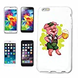 Phone Case Samsung Galaxy S5 Mini PIG WITH BEER AND LEDERHOSE ON THE