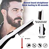 ADTALA Beard and Hair Straightening Brush Electric Comb for Men with Side Hair