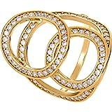 JETTE Gold Damen-Ring 333er Gelbgold 80 Zirkonia 54, gold