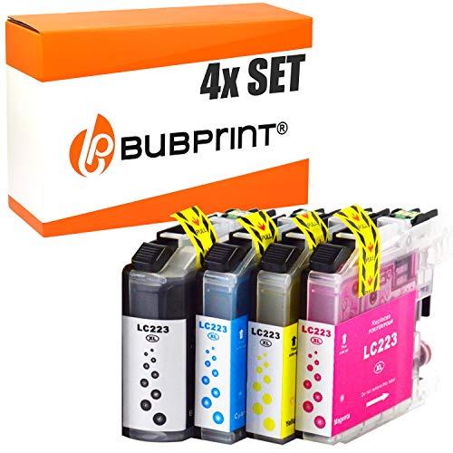 4 Bubprint Druckerpatronen kompatibel für Brother LC-223 LC-225 LC-227 XL für DCP-J4120DW MFC-J480DW MFC-J5320DW MFC-J4620DW MFC-J4420DW DCP-J562DW