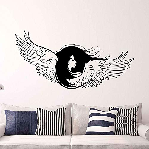 Memorial Guardian Inspirational Angel Wings Decal Newborn Woman Big Wings Vinyl Sticker GOTHIC ANGEL For Living Room 116X57cm Womens Memorial
