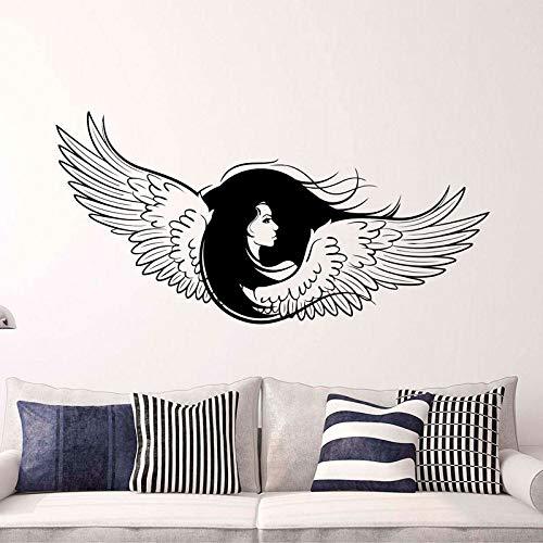 Memorial Guardian Inspirational Angel Wings Aufkleber Neugeborene Frau Große Flügel Vinylaufkleber GOTISCHEN ENGEL Für Wohnzimmer 85X42CM -