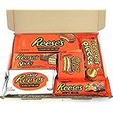 Heavenly Sweets Amerikanischer Reeses Schokolade Geschenkkorb - Small - weiße Schachtel