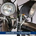 51KPJuXmAdL. SS150 Ecovelò Multipla FANALINO FANALE Luce Illuminazione Bici Bicicletta City Bike Mountain Bike