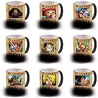 "Taza Sensitiva Al Calor Wanted One Piece Colecci""N Completa 9 Tazas"
