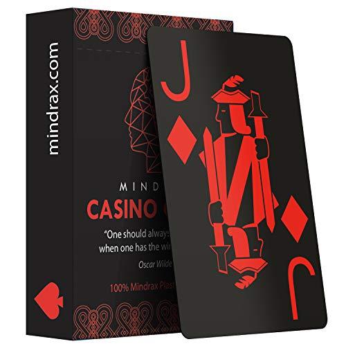 Mindrax Premium Spielkarten | Wasserfeste Profi Designer Poker-Karten 100% Plastik Jumbo Index | Ideal für Texas Holdem