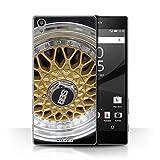 Stuff4 Hülle / Hülle für Sony Xperia Z5 Premium/5.5 / Gold/Chrom Muster / Leichtmetallfelgen Kollektion
