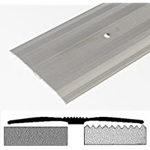 Bulk Hardware BH00446 Aluminium Carpet Cover Strip with Silver Finish, 900 mm (35 inch), Extra Wide 60 mm (2.3/8 inch)