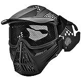 Masque protecteur de maille d'acier, équipement protecteur intégral pour la...
