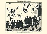 Vintage Opéra et musique classique Anton Anton Bruckner arrivée in Heaven avec Liszt, Wagner, Schubert, Schumann, Mozart, Beethoven, Gluck et Strauss à partir du Otto Bohler silhouettes, 1914. 250g/m² Brillant Art carte Poster Reproduction