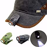 #5: Clip-on LED Cap Hat Light Lamp Mini Torch Headlight Hunting Fishing Camping Outdoor