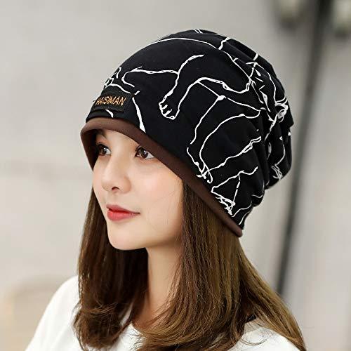mlpnko Tier Baumwolle Plus Seite warme Baotou Hut Mode Wilde gehörschutz Curling kapuzenmütze schwarz Code