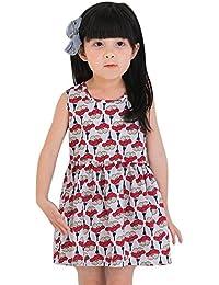 feiXIANG Ropa para niños Vestido de niña Vestido con Estampado de Arco Vestido de tutú Vestido