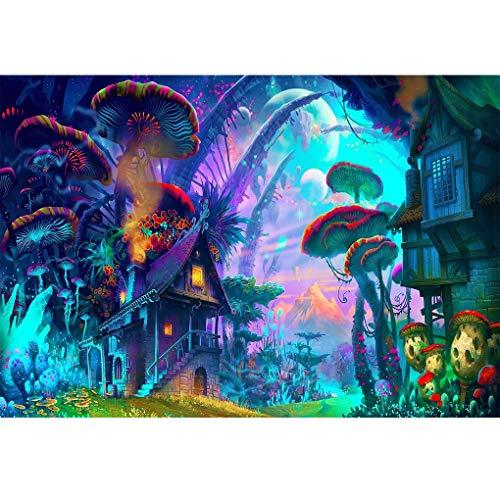 Abstrakte Mädchen (Puzzle 1000 Teile 3D Puzzle Poster Psychedelische Trippy Bunte Ttrippy Surreale Abstrakte Astral Art Office Home Zimmer Wand Dekor)