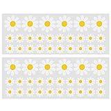 ACBungji Stickers Autocollants Voiture Pare-chocs Rétroviseur Frigo Mur Porte Fleur Marguerite (blanc & jaune)