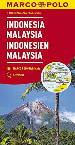 MARCO POLO Kontinentalkarte Indonesien, Malaysia 1:2 000 000: Wegenkaart 1:2 000 000 (MARCO POLO Kontinental /Länderkarten) (Karte Indonesien)