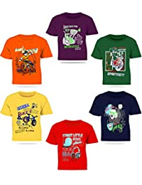 Kiddeo Boy's Cotton T-Shirt - Pack of 6