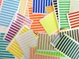 336 Labels , 50x5mm Rectangle , Mixed Colour Code Stickers , Self-Adhesive Sticky Coloured Labels