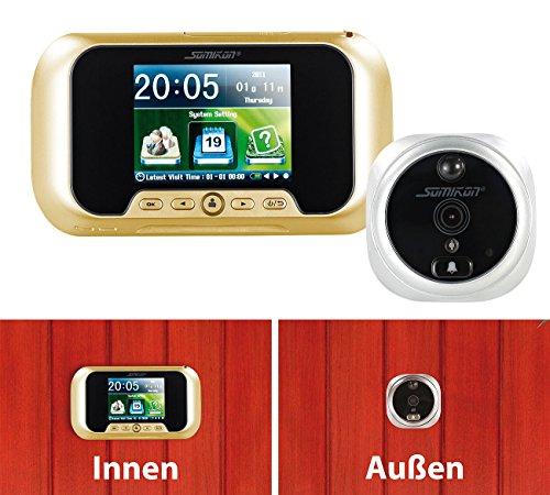 Preisvergleich Produktbild Somikon Tür Kamera: Digitale Türspion-Kamera mit Bewegungserkennung (Elektronischer Türspion)