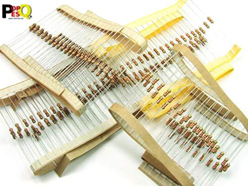 Piezas / pcs. 200 x Resistencias / Resistor, 0.25W, 4 x 50 piezas /pcs. Resistencias (220 Ohm, 330 Ohm, 1K, 10K) #A760 width=