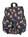 Eulenrucksack Kinderrucksack mit tollem Eulen Motiv - verschiedene Farben - Rucksack für Kinder (schwarz)