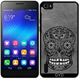 Silicone Case for Huawei Honor 6 - Dark gothic silver grey sugar by Gatterwe