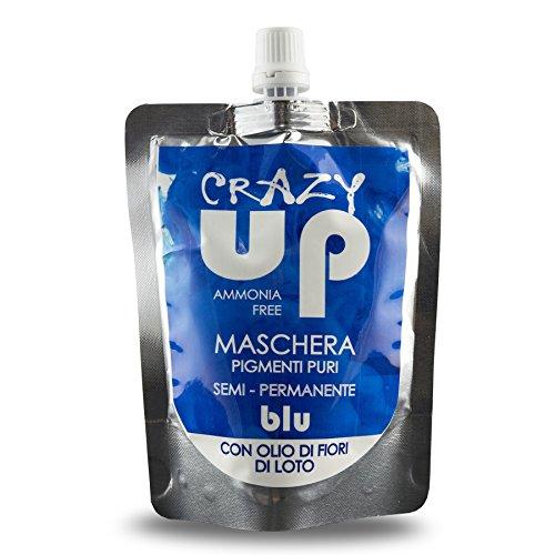 Crazy Up Maschera Colore Tinta per Colorazione Capelli Semi Permanente Blu