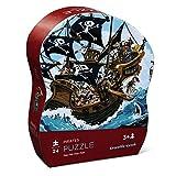 Crocodile Creek 384119-1 Puzzle für Kinder Piraten, 24-teilig, Größe: 28x38 cm