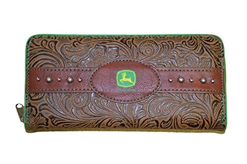 john-deere-ladies-brown-leather-wallet