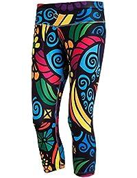 Nessi Damen 3/4 Leggings OSTK Laufhose Fitnesshose Atmungsaktiv Colored Mosaic2