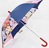Kinder-Regenschirm Motiv Minnie Mouse in blau/rosa (KSD05)