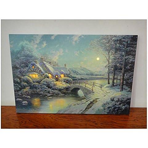 XYXY Giorno di Natale decorazione di paesaggio pittura Home Decor LED Lighted Galleria avvolto tela arte . 30*40
