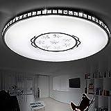 Modern Minimalistisch 30W LED Deckenleuchte Weiß Elegant Acryl Lampenschirm Kreativ Eisen Metall Rund Deckenlampe Wohnzimmer Schlafzimmer Balkon Mode Deckenbeleuchtung Dimmbar 3000K-6000K Ø47cm