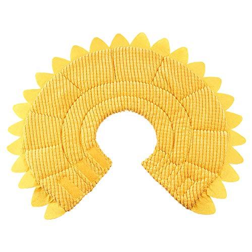 Goodplan 1 Stücke Hundehalsband Weiche Baumwolle Katze Kegel Sonnenblume Schutz Kragen für Hunde Katzen Hals Schutz und Erholung für Anti Biss Anti-Lick ()