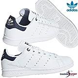 adidas Stan Smith J J, Chaussures de Running garçon, Multicolore FTWR White/Collegiate Navy EE6173, 36 EU